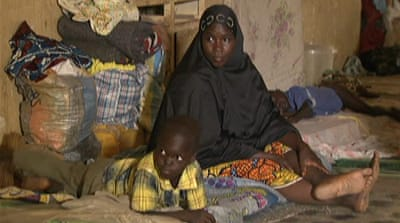 Desperate conditions for displaced Nigerians