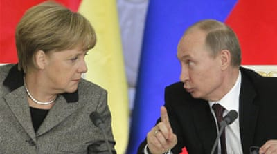 Merkel and Putin clash over rock band jailing