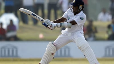 The Sri Lankan skipper fell nine runs short of his 32nd Test century [Reuters]