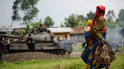 Government forces and Congolese soldiers have been retreating as M23 advances on city of Goma [Al Jazeera]