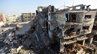 "The millions that were ""spent by different world powers on rebuilding Gaza"", rehabilitating its homes, schools and hospitals, creating emergency and early recovery programmes, ""have all gone to waste"" [REUTERS]"
