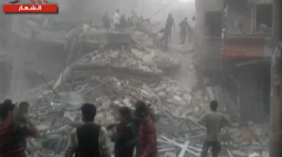 Air strike damages hospital in Aleppo