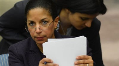 Senator John McCain has been leading attacks against UN Ambassador Susan Rice [AFP]