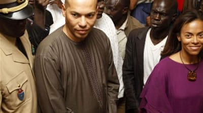 karim Wade is alleged to have acquired by corrupt means companies and property valued at $1.4bn [Reuters]