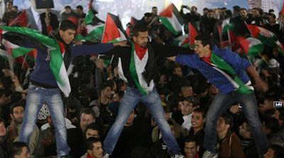 Palestinians celebrate status upgrade at UN