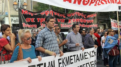 Anti-fascist rallies have become more and more common these days in Greece [EPA]