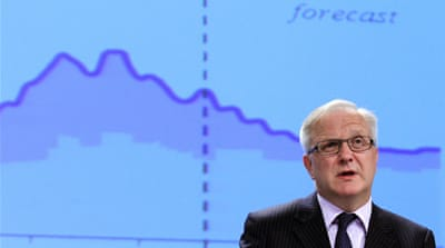 The EU's Olli Rehn said it would take some time before Europe's economies recover fully [Reuters]