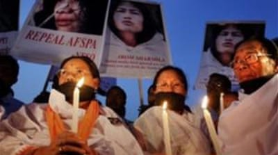 Irom Sharmila has been demanding the repeal of a law that allows troops to act with impunity [AFP]