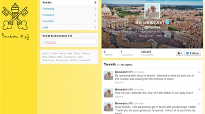 The Pope is expected to sign off, rather than write, each individual tweet himself.[AFP]