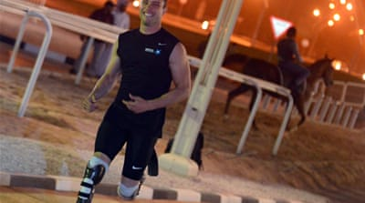 Pistorius shows his horsepower