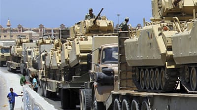 The scope of Egypt's army - the largest in the Arab world - extends far beyond military operations [Reuters]