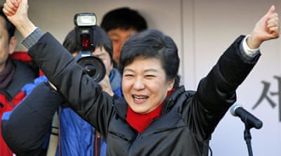 Park Geun-hye is the daughter of late President Park Chung-hee, who ruled from 1961 to 1979 [Reuters]