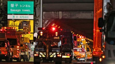 Several dead in Japan tunnel collapse