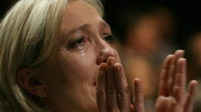 Marine Le Pen counters hate-related allegations with the claim: 'I feel hatred towards nobody, but I have immense love for my people and for my country that I will defend in all circumstances' [AP]