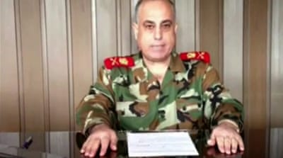 General Abdel Aziz Jassem al-Shallal reportedly said in an online video that he was joining the opposition.