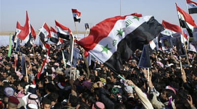Iraq Sunnis block trade routes in new protest