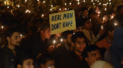 "Despite the fact that women have ""significant political clout"" in India, men who commit violence against women ""get away with murder""; the laws against rape are not strict enough [AFP]"