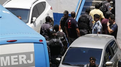 "The arrests are part of ""Operation Purification,"" a crackdown on Rio's historically corrupt police force [Reuters]"