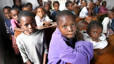 Around 83,015 children may no longer have the chance to go to primary school in the Democratic Republic of the Congo due to Spain's proposed cuts [EPA]