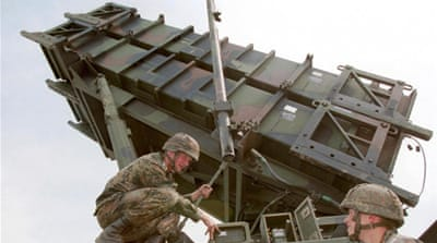NATO and Turkey insist that deployment of US-made surface-to-air Patriot missiles is a purely defensive move [EPA]