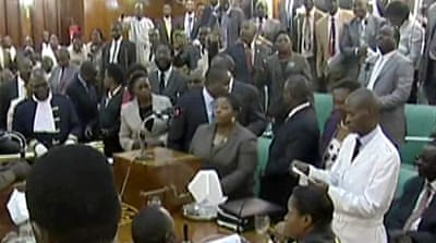 Uganda oil bill stirs chaos in parliament