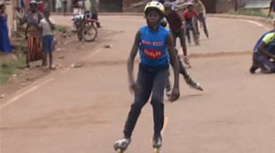 Skating an alternative to crime in Kenya slum