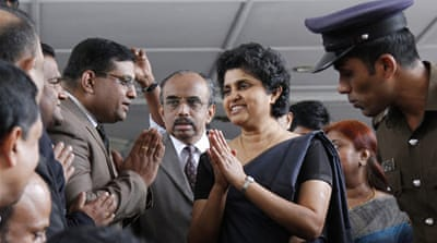 It is not immediately clear if Chief Justice Shirani Bandaranayake will be stepping down now or in January [Reuters]