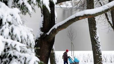 Winter snow kicks in across Europe