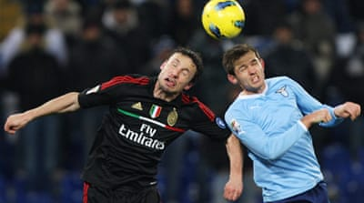 AC Milan lose ground in title race