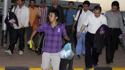 Seized Chinese workers released in Sinai
