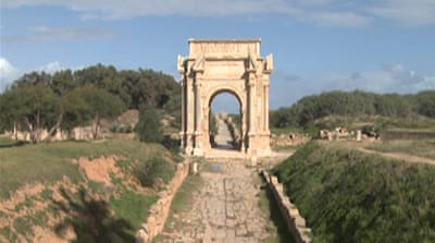 Libya's ancient Leptis Magna now a ghost town