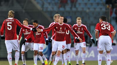 AC Milan move top of Serie A