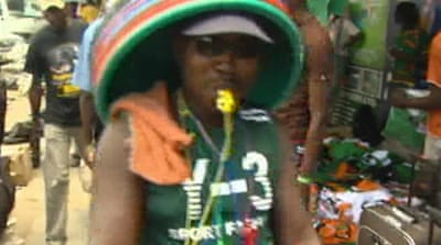 Zambia fans prepare for Africa cup final