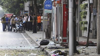 Bangkok blast leaves attacker wounded