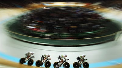 The pursuit is on at the London velodrome