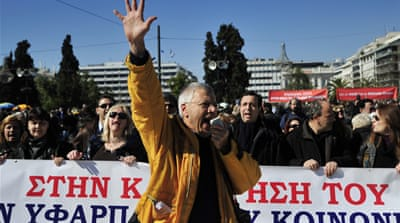 Greeks rally against austerity steps