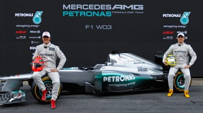 Mercedes unveil their new F1 car