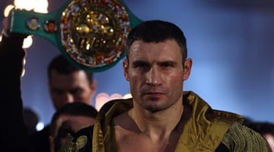 Vitali faces his next opponent (Manuel Charr) in the boxing ring not in the political ring [EPA]