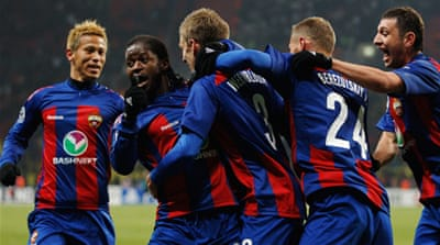 CSKA Moscow score Real late equaliser