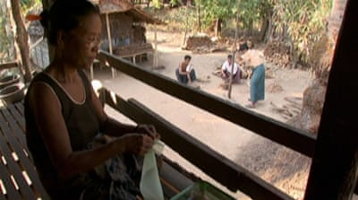 Myanmar villagers protest eviction