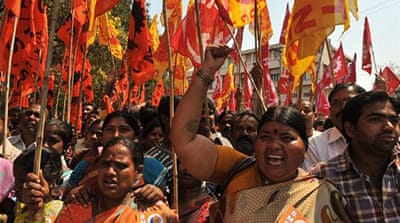 Millions of Indian workers strike for rights