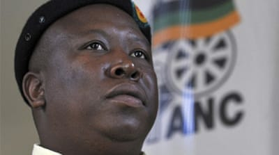 S Africa's ruling party expels youth leader