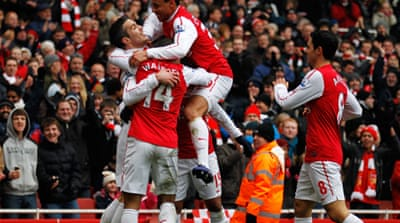 Seventh heaven for Arsenal against Blackburn