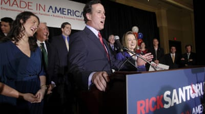 Santorum shakes up US Republican race