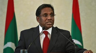 Maldives leader pledges 'peace and order'