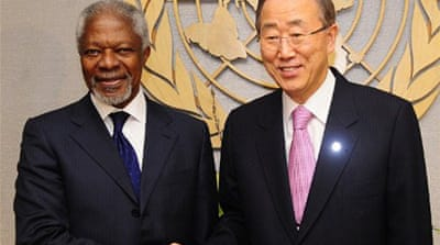 Kofi Annan calls for unified action on Syria
