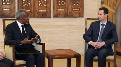 Annan meets Assad in Damascus amid violence