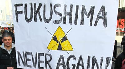 Demonstrations were held worldwide to protest the use of nuclear energy after Fukushima [EPA]