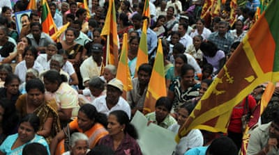 Sri Lankans protest UN war crimes probe