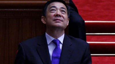 Bo Xilai, a rising political star, has been accused of bribery, corruption and abuse of power [Reuters]